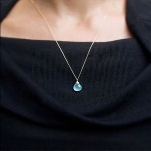 Jewelry - Aqua Chalcedony Simulated necklace